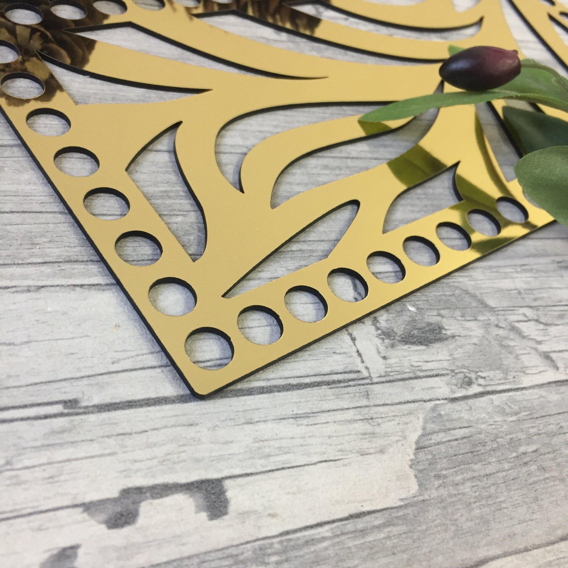 """Золотое донышко из акрила для клатча """"Хит"""" 23х12см - фото pic_f683a93a63bf687_1920x9000_1.jpg"""