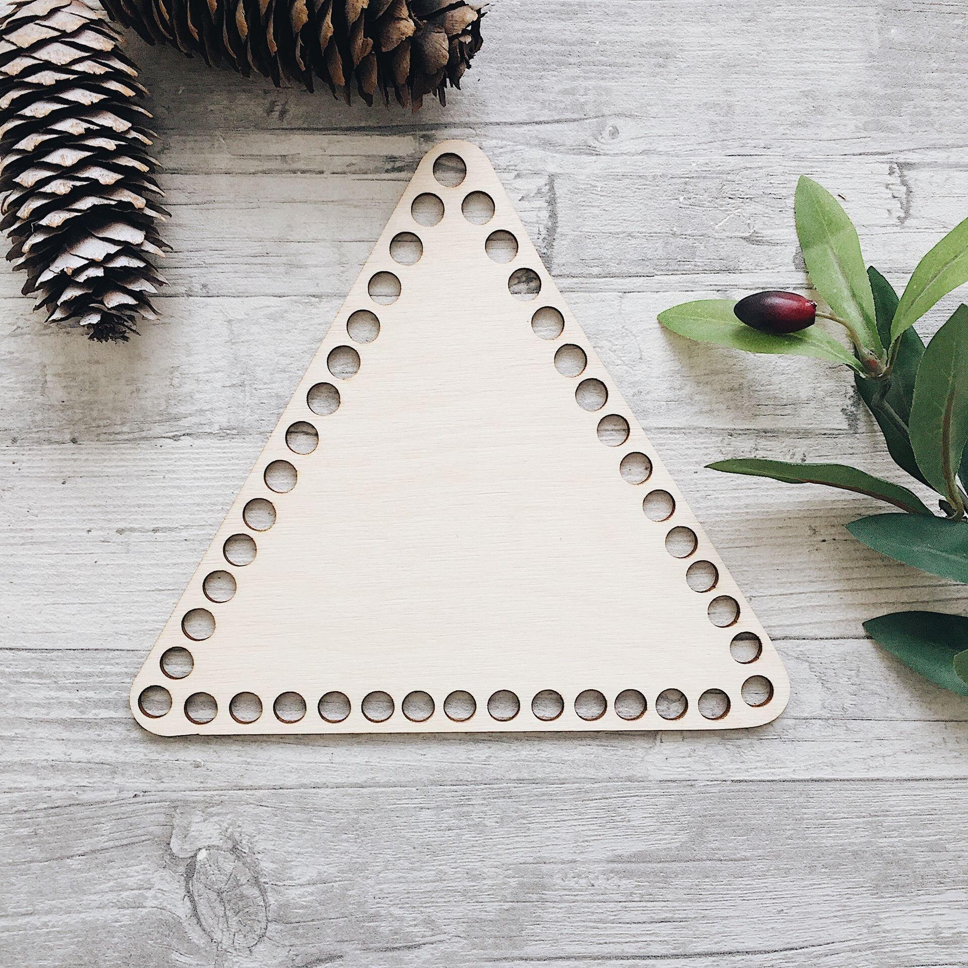 Деревянное донышко для корзины, треугольник 20см - фото pic_9914731791ac947_1920x9000_1.jpg