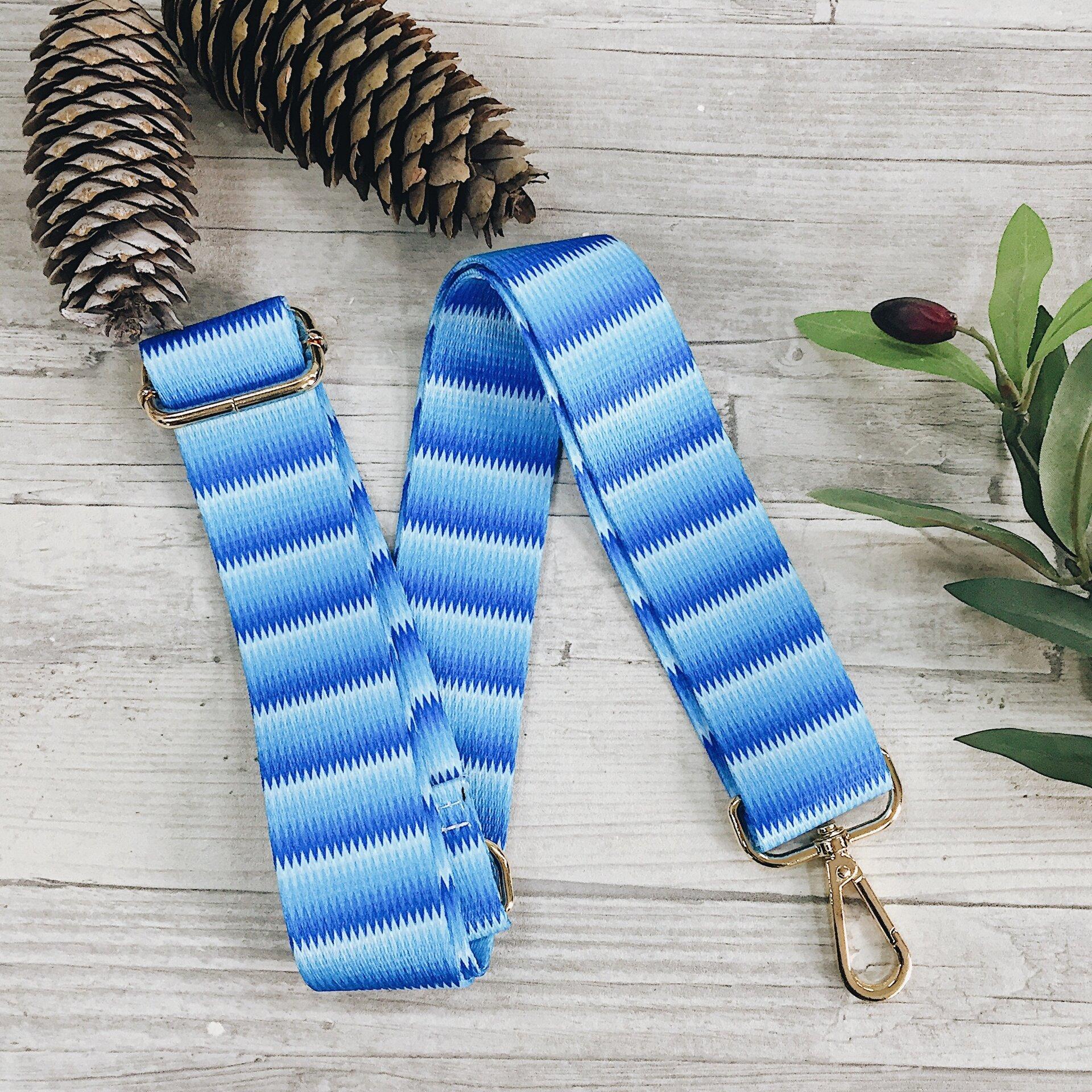 Ремень для сумки, широкий 4см цвет голубой - фото pic_6a671674fd47c220687afdb024751f62_1920x9000_1.jpg