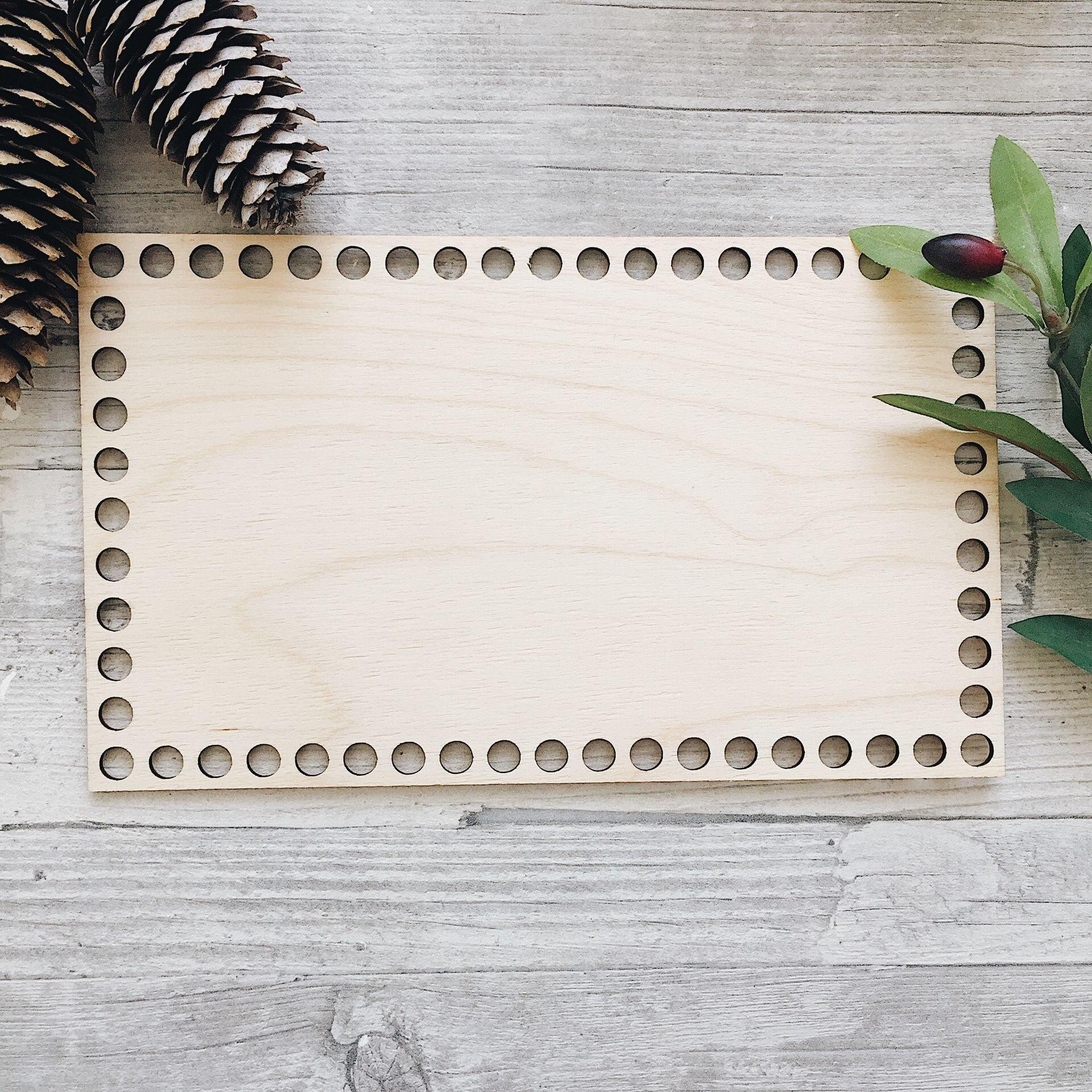 Деревянное донышко для корзины, прямоугольник с острыми углами 25х15см - фото pic_708c70eb12fe045_1920x9000_1.jpg