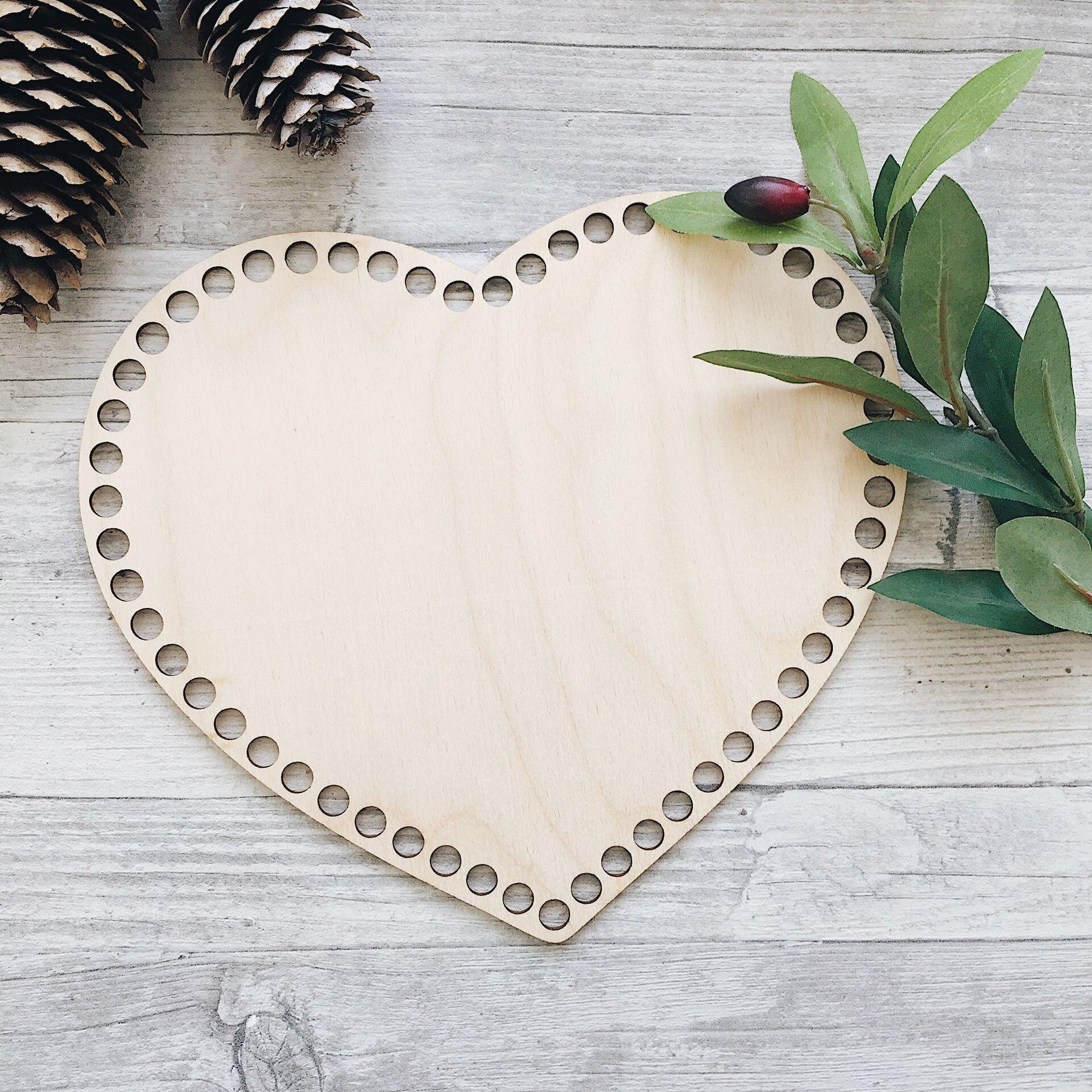Деревянное донышко для корзины, сердце 30*26см - фото pic_570c88b545ffca5_1920x9000_1.jpg