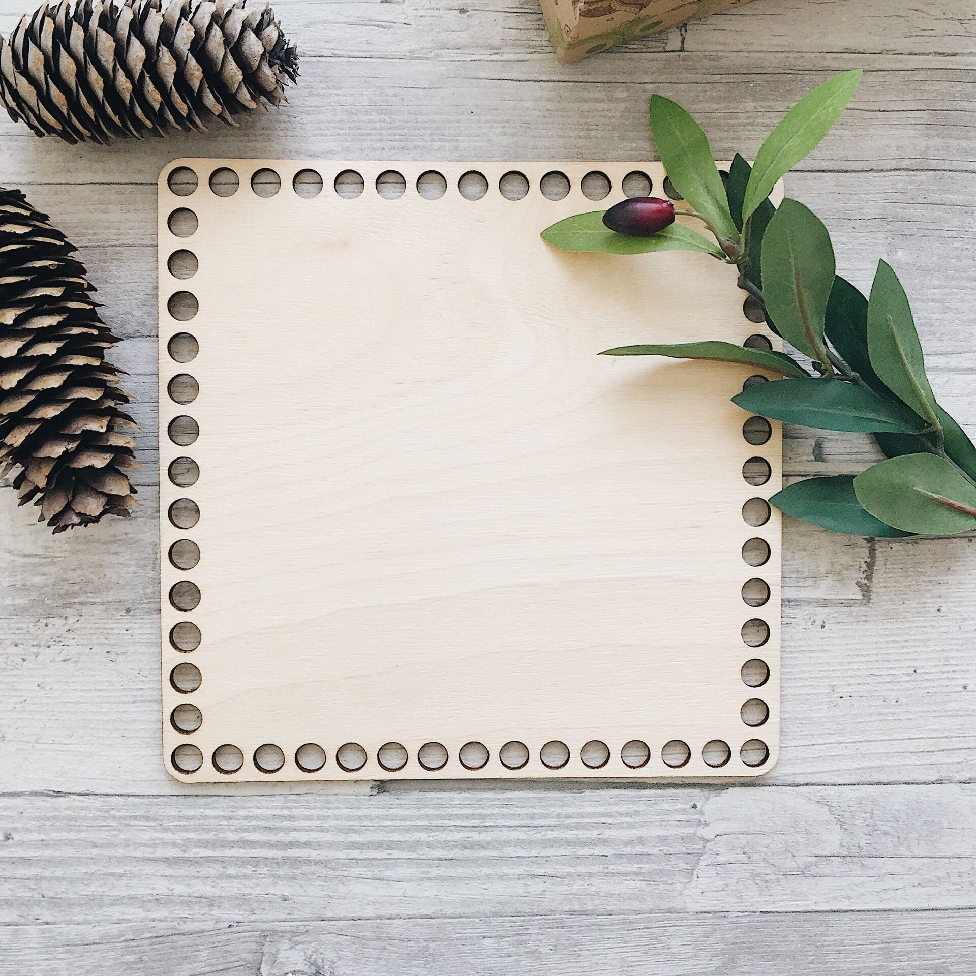 Деревянное донышко для вязания, квадрат 20см - фото pic_e60d7490af7c97f_1920x9000_1.jpg
