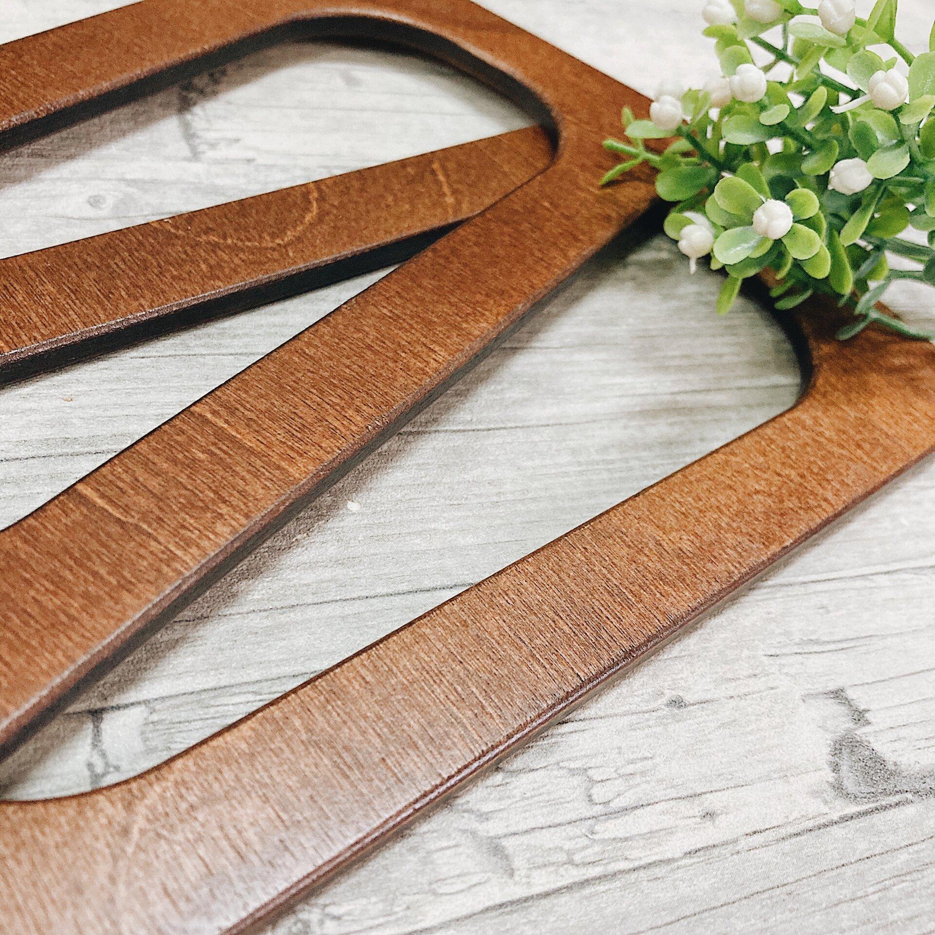 Деревянные ручки для вязаных сумок, прямоугольные 20*10см, цвет орех - фото pic_327606559001cc221684b6a33c526c60_1920x9000_1.jpg