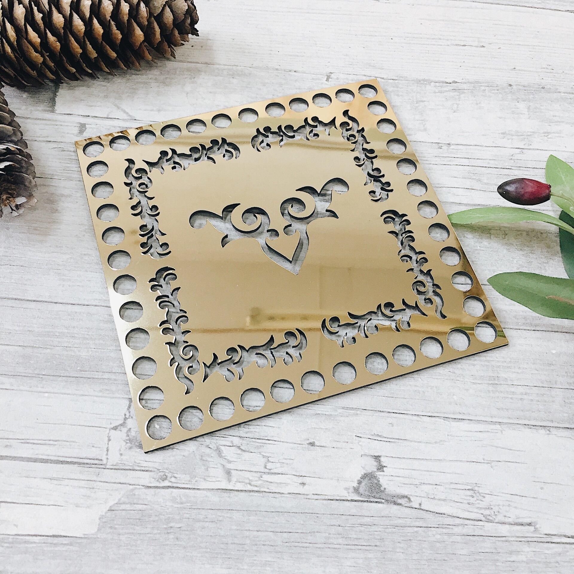 """Золотая вставка из акрила для сумки """"Восток"""" - фото pic_f683a93a63bf687_1920x9000_1.jpg"""
