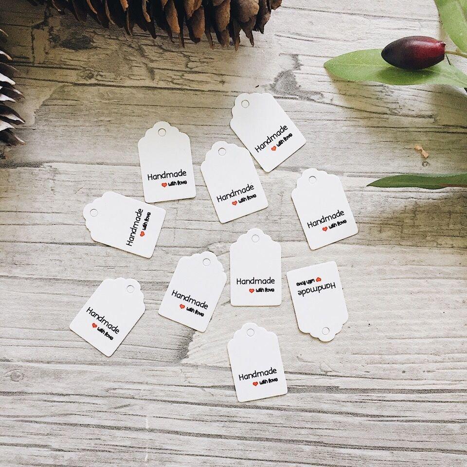 Ярлычки картонные глянцевые  Hand Made белые - фото pic_daff42955322d40_1920x9000_1.jpg