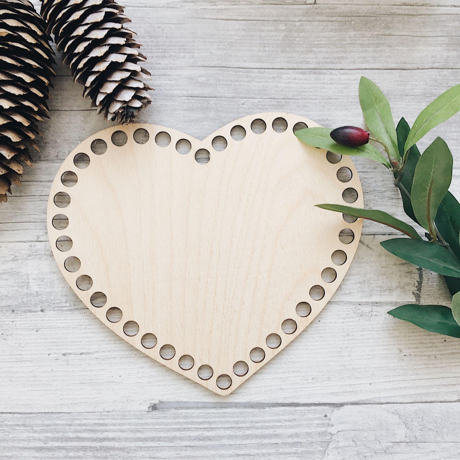 Деревянное донышко для корзины, сердце 17*14см - фото pic_d97b5dbd5df67aa_1920x9000_1.jpg