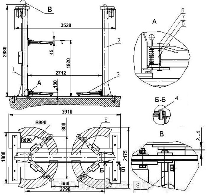 Автомобильный подъемник ПР-3