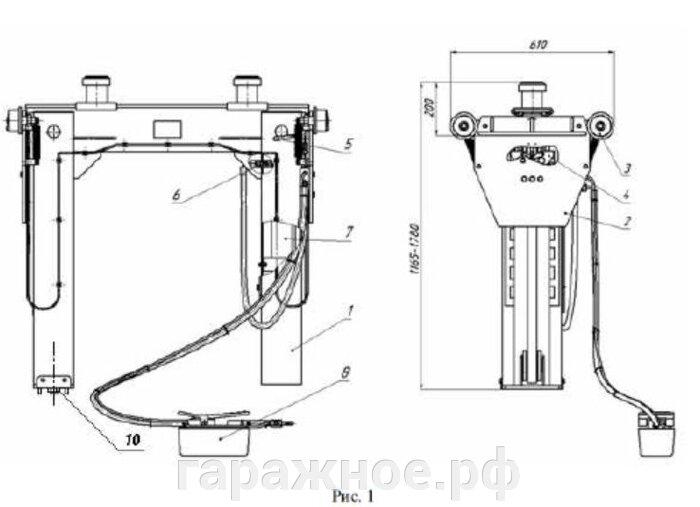 Автомобильный канавный подъемник ППК-10,