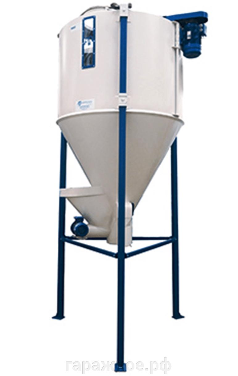 Комбикормовый завод - фото Смеситель вертикальный шнековый