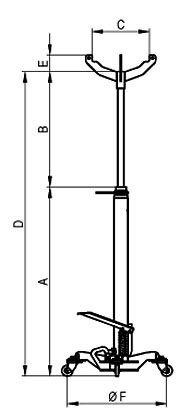 Стойка трансмиссионная гидравлическая 0,3 т. MEGA - фото Стойка трансмиссионная Mega