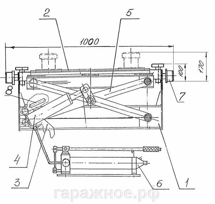 Автомобильный канавный подъемник ПНК-1