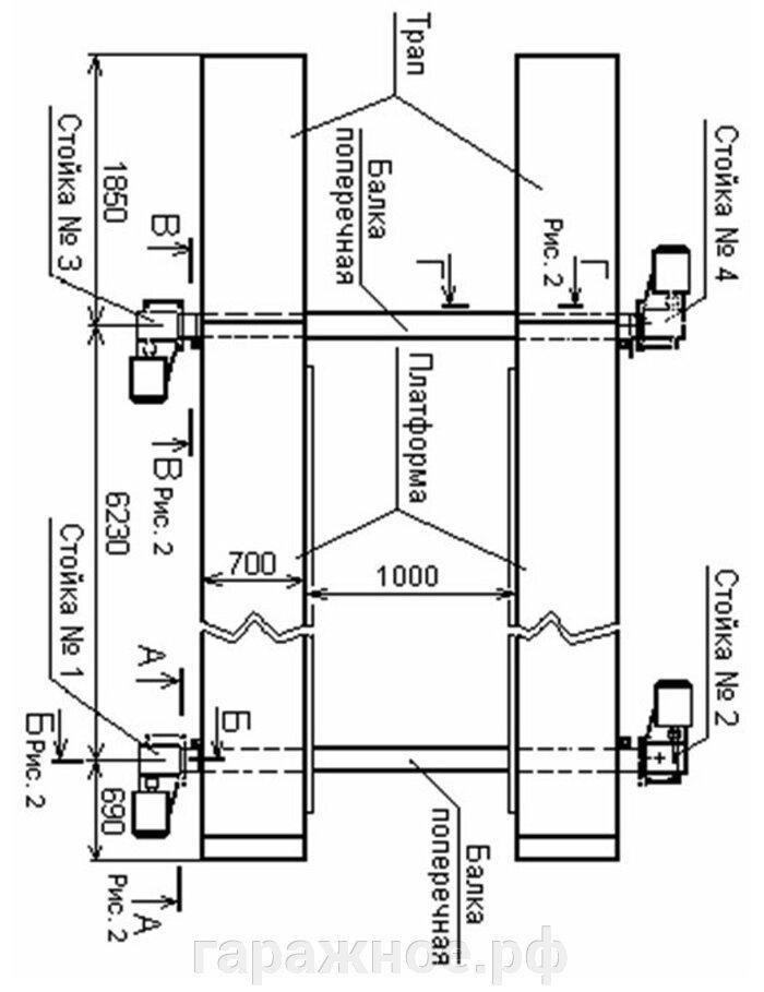 Автомобильный платформенный подъемник ПЛ-10