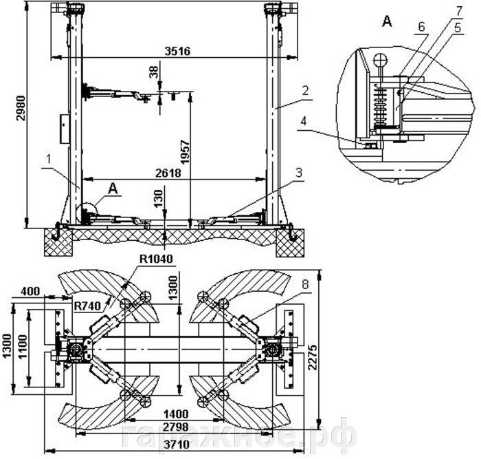 Автомобильный подъемник ПЛД-3-01