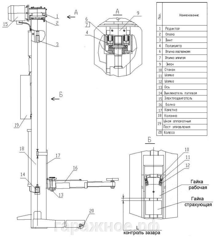Подъемник передвижной ПП-5