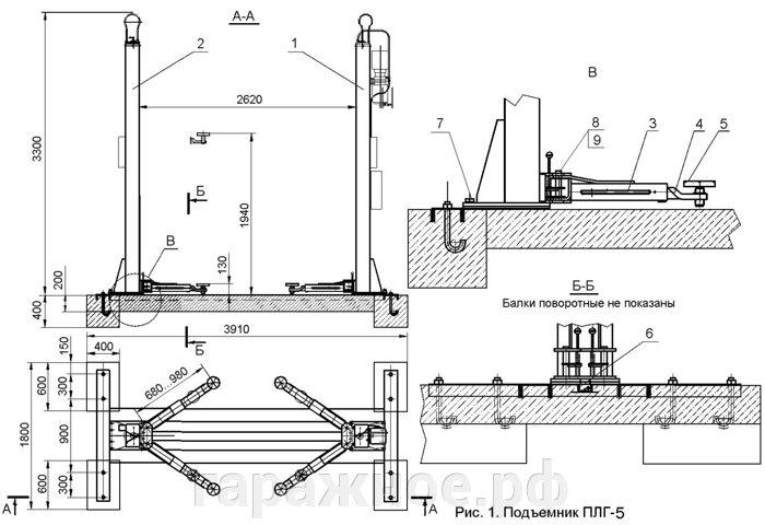 Двухстоечный подъемник ПЛГ-5