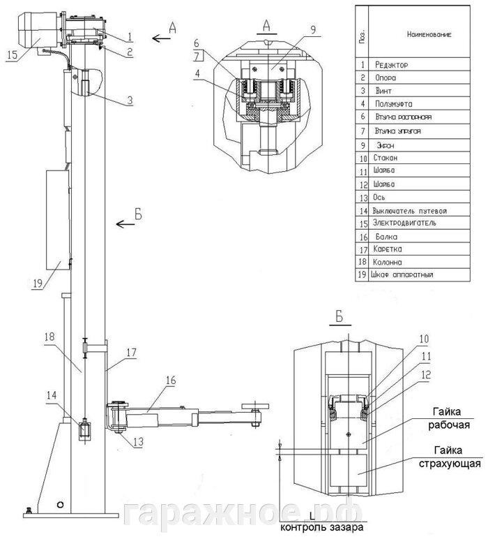Автомобильный подъемник ПЛД-3