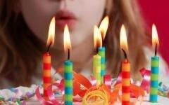 "Свеча восковая для торта с блестками ""Серпантин"", цифра 7 - фото 2"
