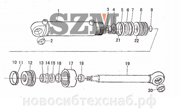 Ремкомплект рулевого гидроцилиндра на погрузчик ZL20 - фото pic_d8f5bcb69e93bf5_700x3000_1.png