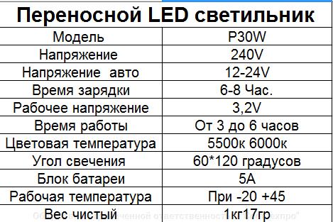 Портативный переносной прожектор AKB  slim с аккумулятором - фото pic_31e6d71126259ea_1920x9000_1.png
