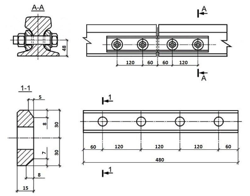 Стыковая накладка РС 3 для рельс КР70 - фото pic_a1d3b6a6259b4aa33834d1545f663a19_1920x9000_1.jpg