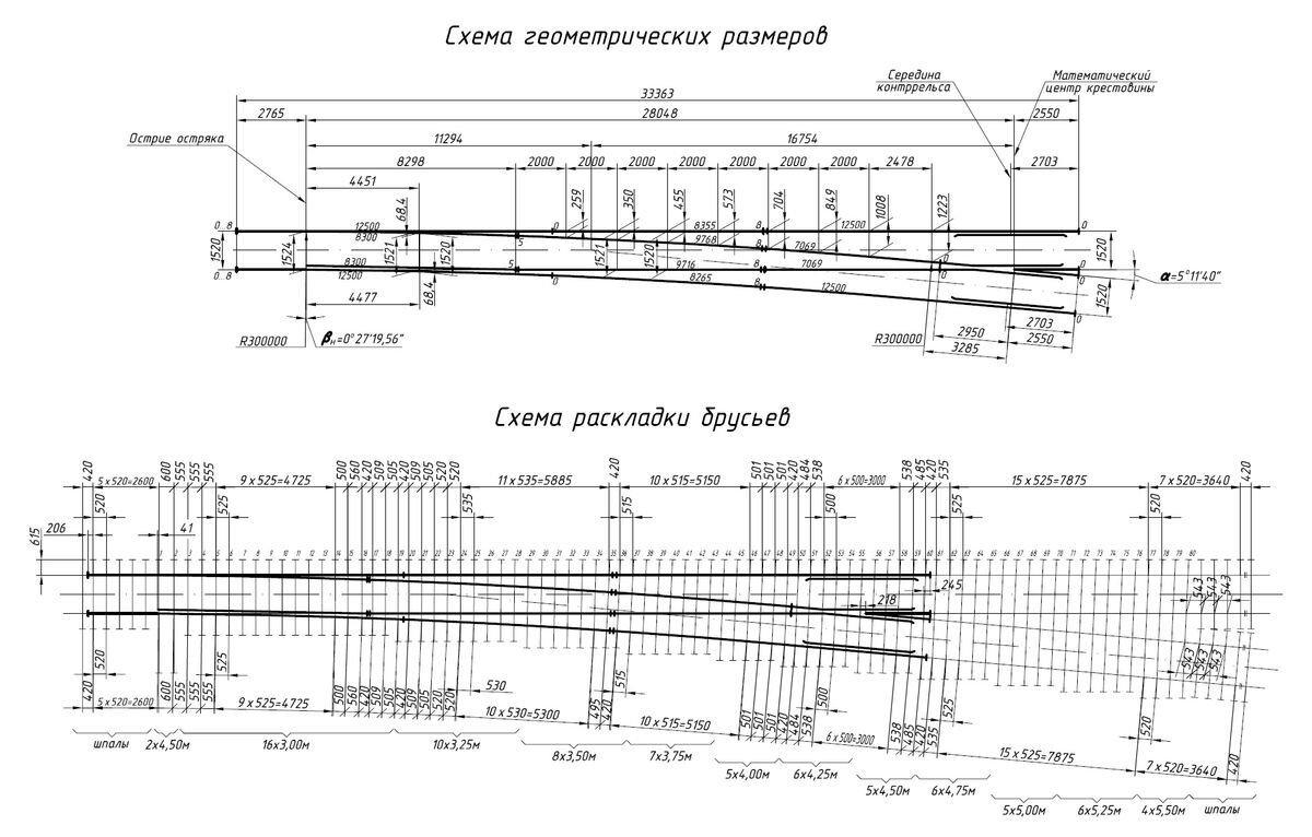 Стрелочный перевод Р65 1/11 левый пр. 2433 дерево  (2000г.) - фото pic_ea2bdf4d9e6f286_1920x9000_1.jpg