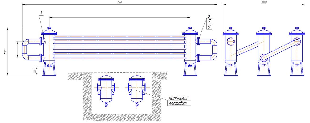Воздухоохладитель трехсекционный шестирядный с водоотделителями 384.79.00.000 - фото pic_3224da00394b585_1920x9000_1.png