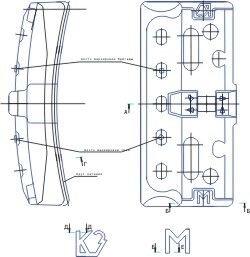 """Колодка тормозная локомотивная гребневая тип """"М"""" ГОСТ 30249-97 от 1 штуки - фото pic_602954d6a12c802_1920x9000_1.jpg"""