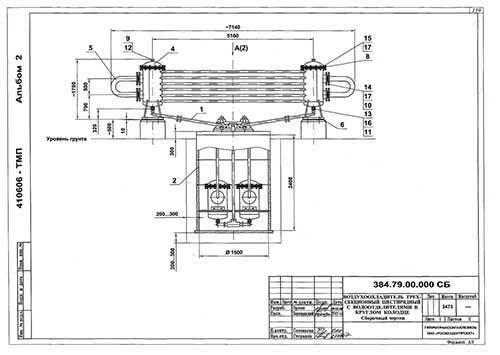 Воздухоохладитель трехсекционный шестирядный с водоотделителями 384.79.00.000 - фото pic_1915be7c1c0eeb9_1920x9000_1.jpg