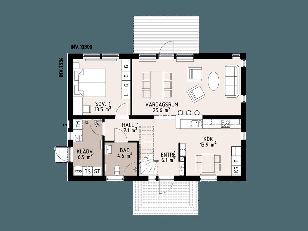 Планировка 1-го этажа виллы Маркарид
