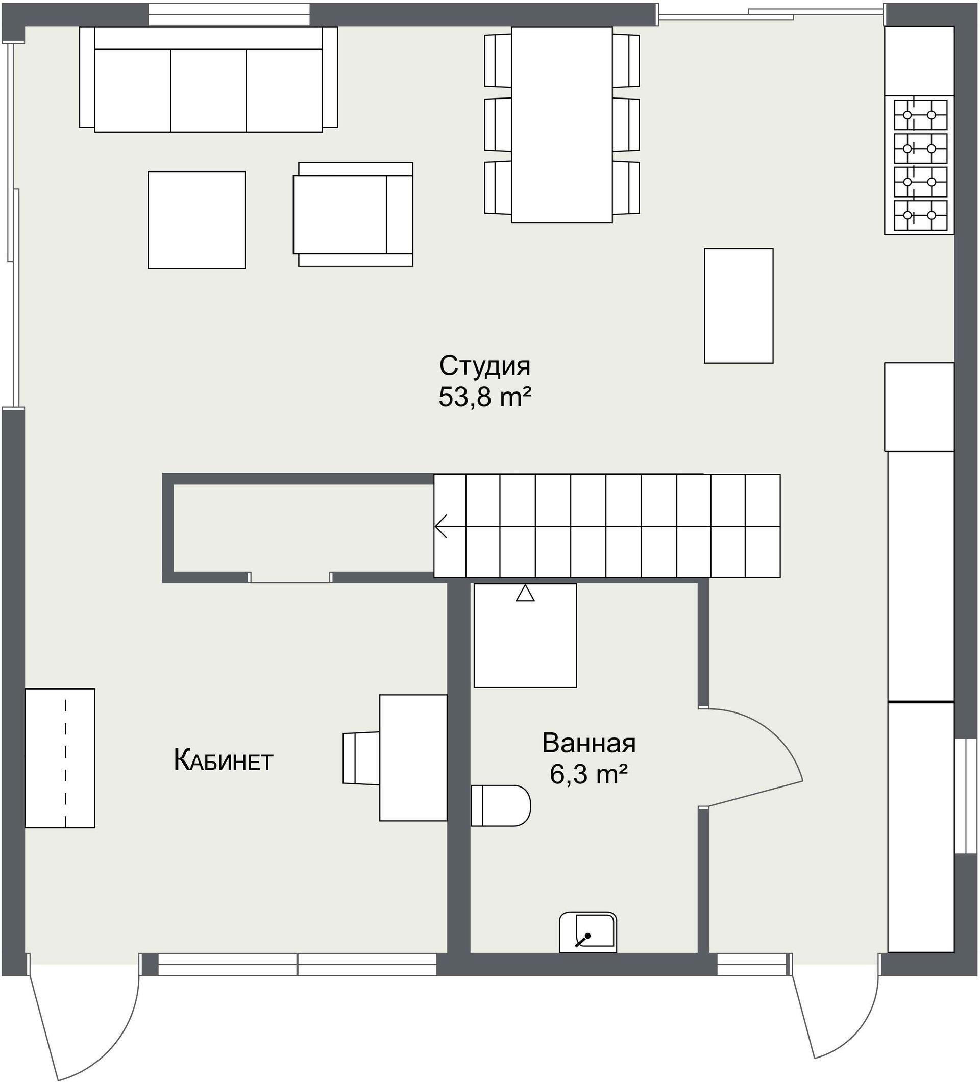 План первого этажа Хельвикен