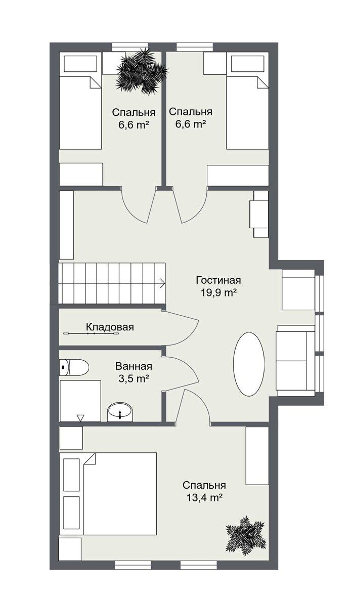 Эверум планировка 2 этажа