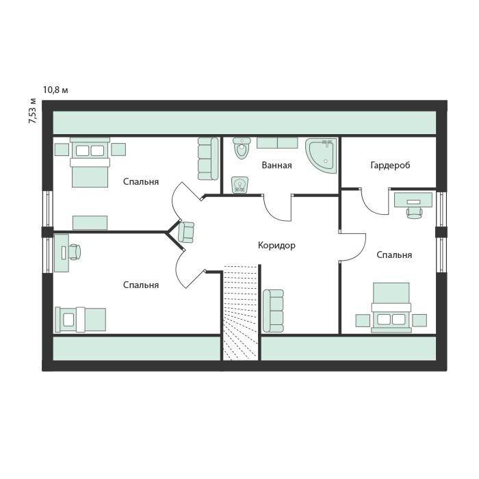Виммерби 2 этаж планировка каркасного дома