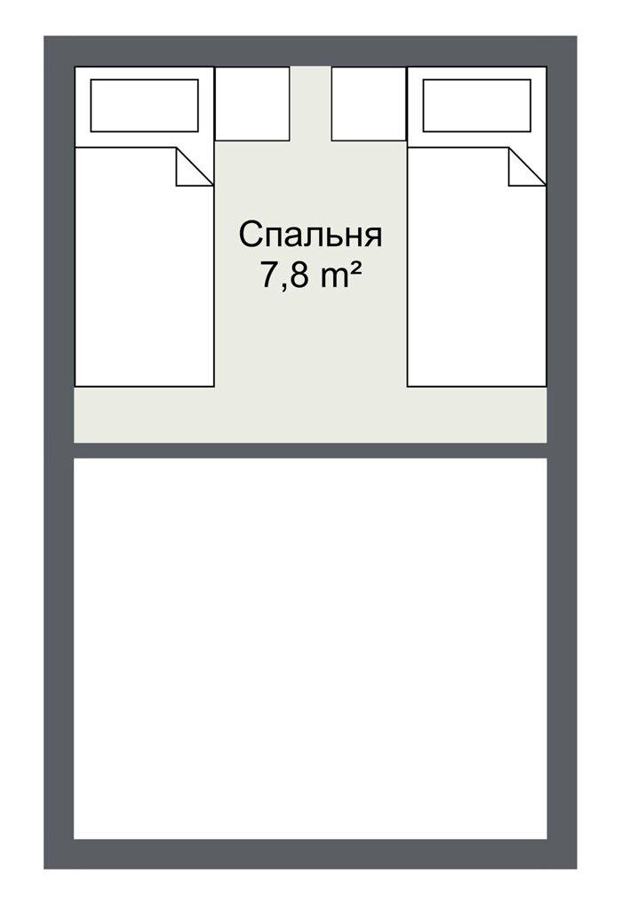 Планировка второго этажа гостевого каркасного дома Сторфорс