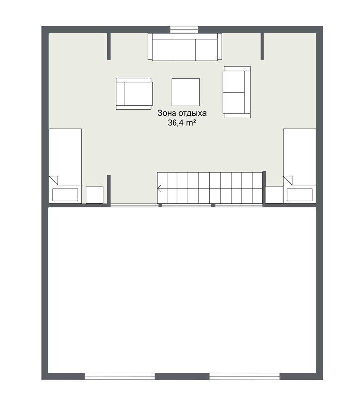 Карлстад - планировка второго этажа каркасного дома