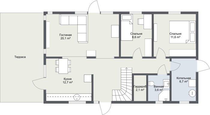 Карлскруна 1 этаж планировка