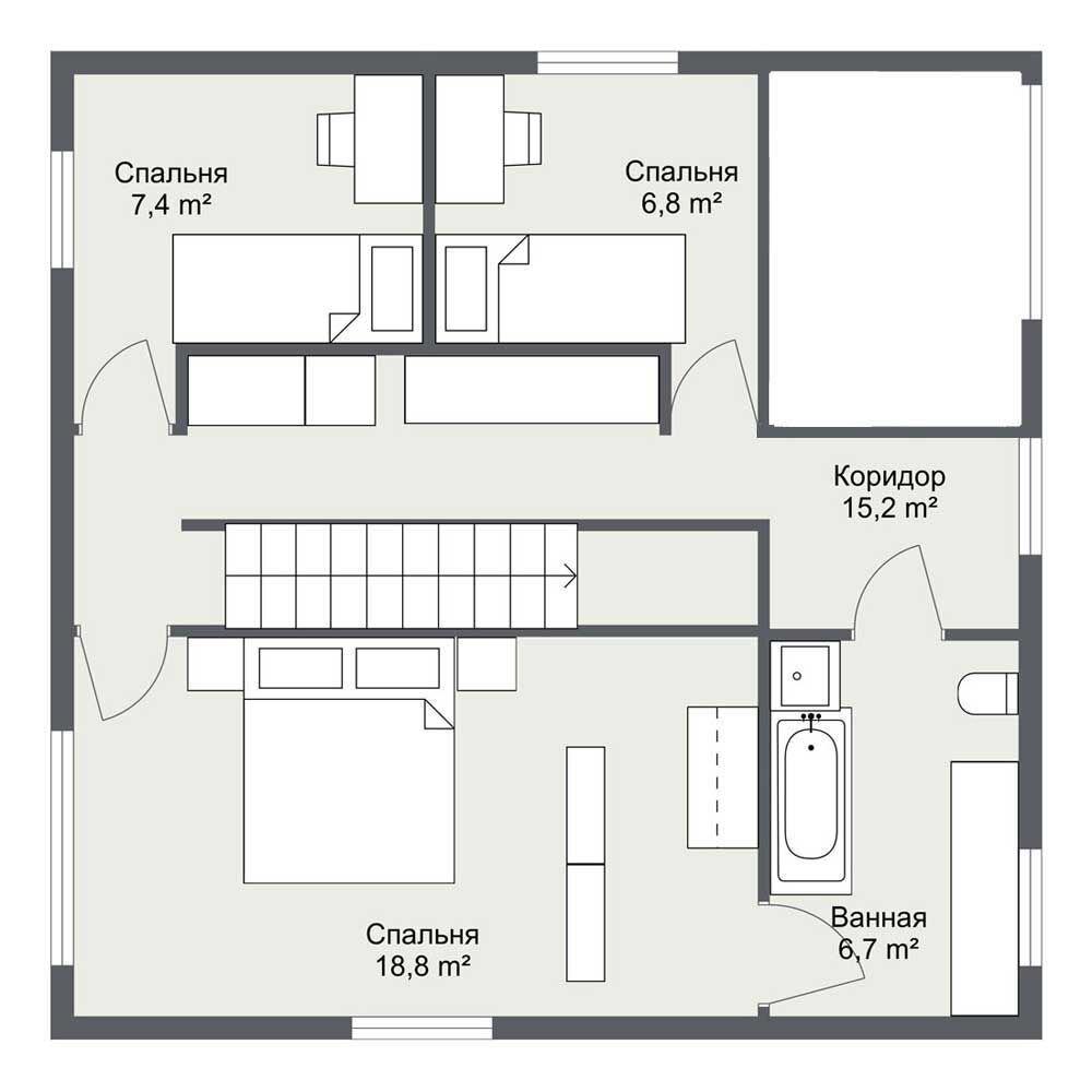 План второго этажа Хельвикен