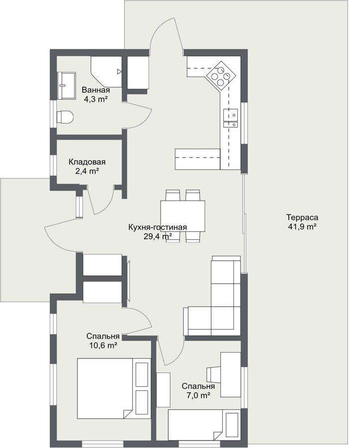 Планировка каркасного дома Одала шведский проект