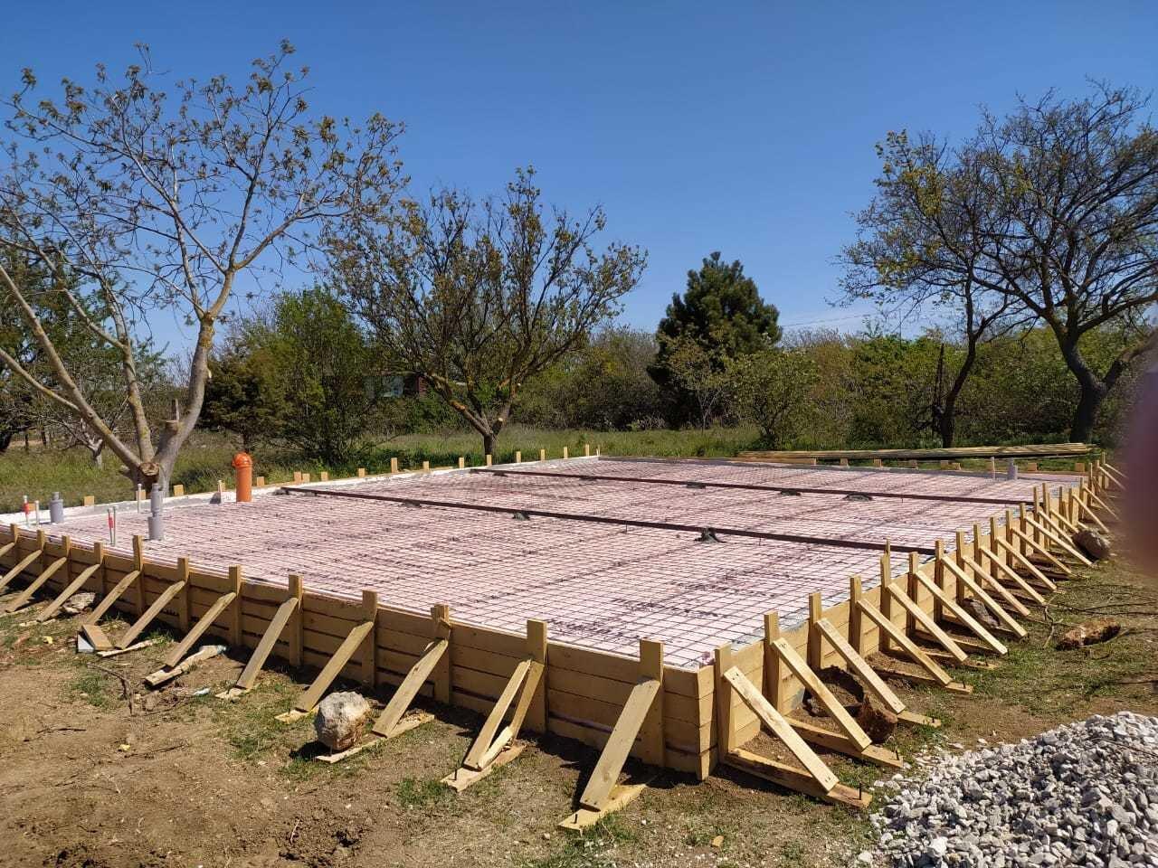 Строительство фундамента монолитной плиты Севастополь