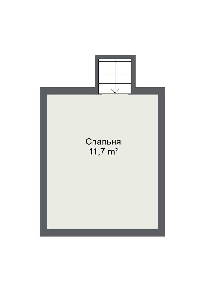 Планировка второго этажа каркасного дома шведского проекта Бурос