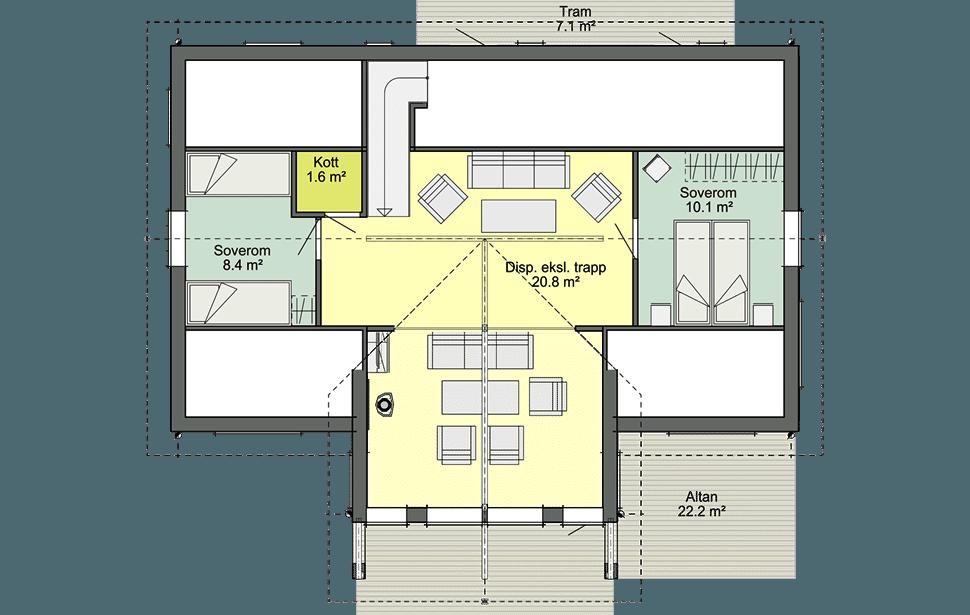 Аврора Солнечный мансардный этаж со вторым светом