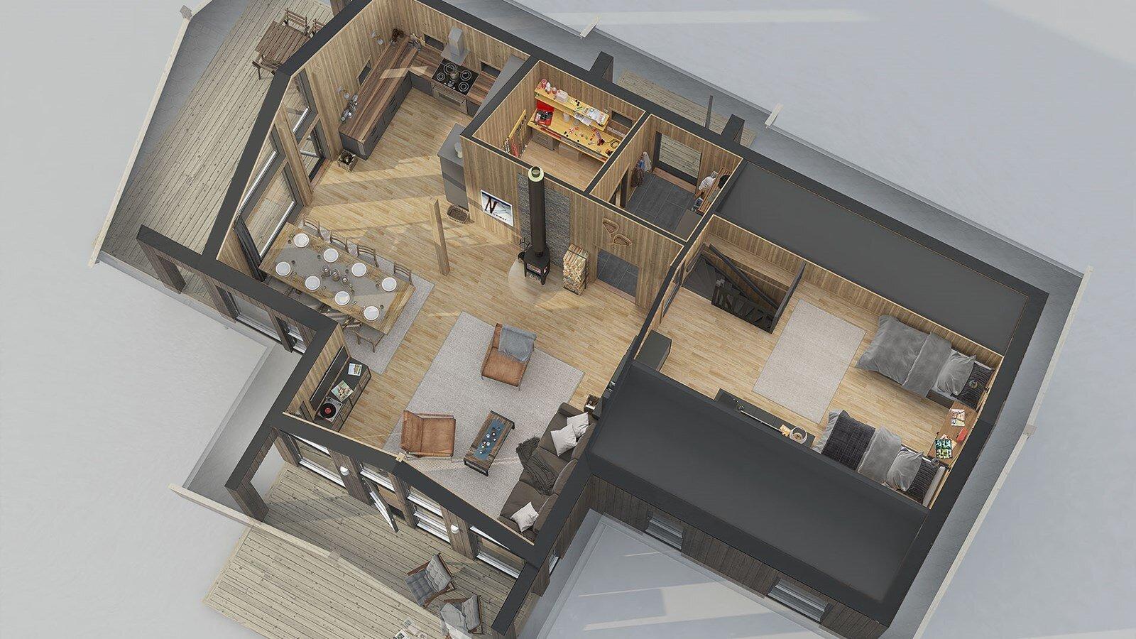 Аврора Бергстуа мансардный этаж планировка