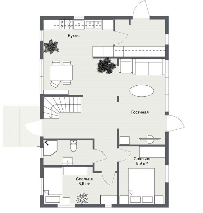 Эверум планировка 1 этажа