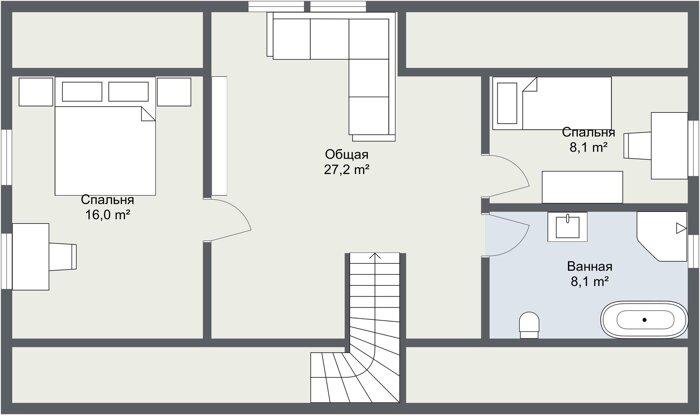 Карлскруна 2 этаж планировка