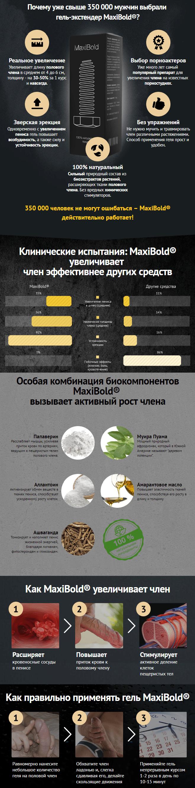 Maxibold - средство для увеличения члена купить