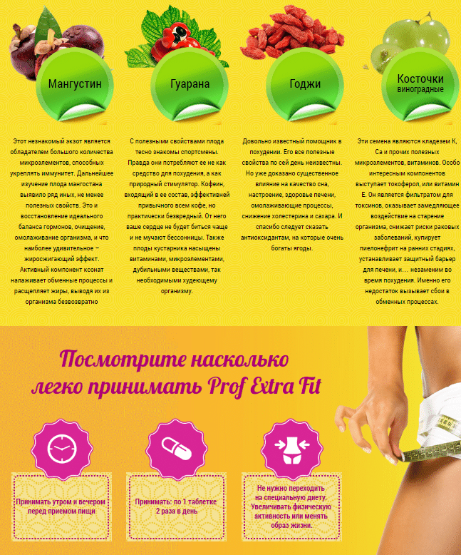 Prof Extra Fit капсулы для эффективного похудения купить