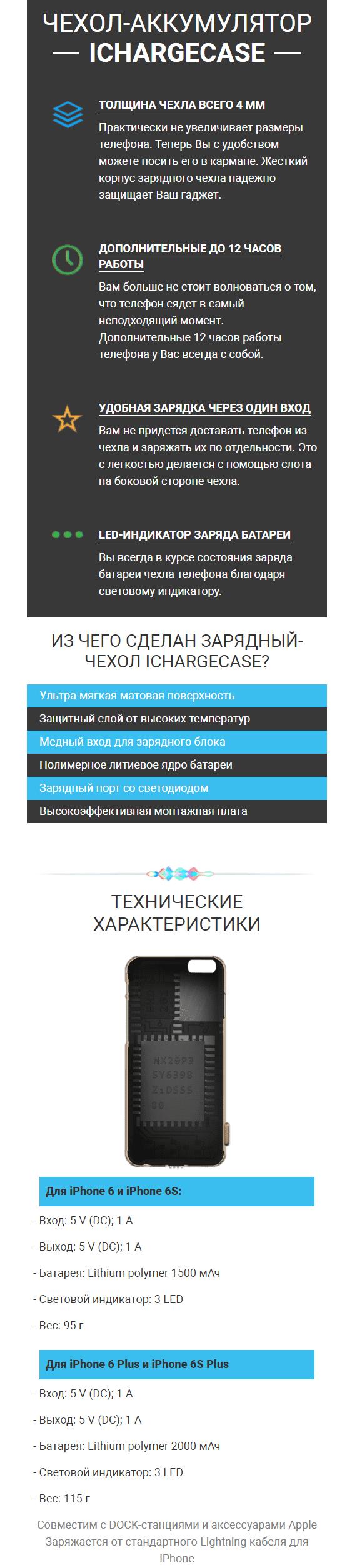 iCharge. Case - зарядный чехол для iPhone купить