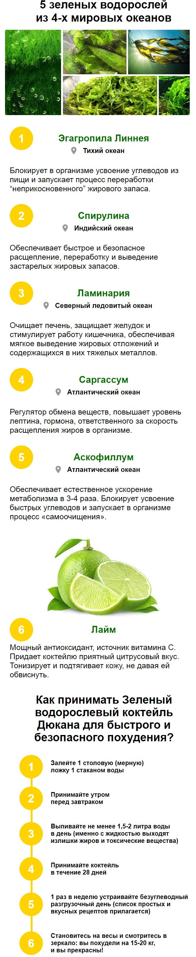 Зелёный коктейль Дюкана для похудения купить