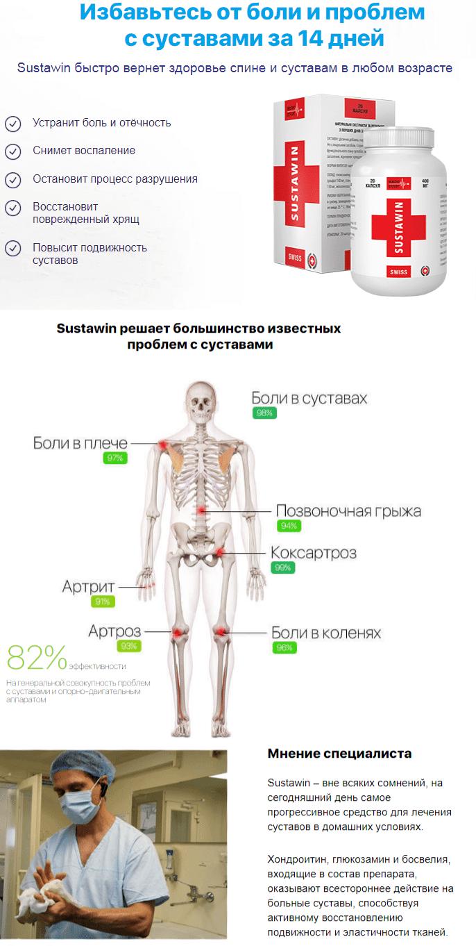 Sustawin - препарат от боли в суставах купить