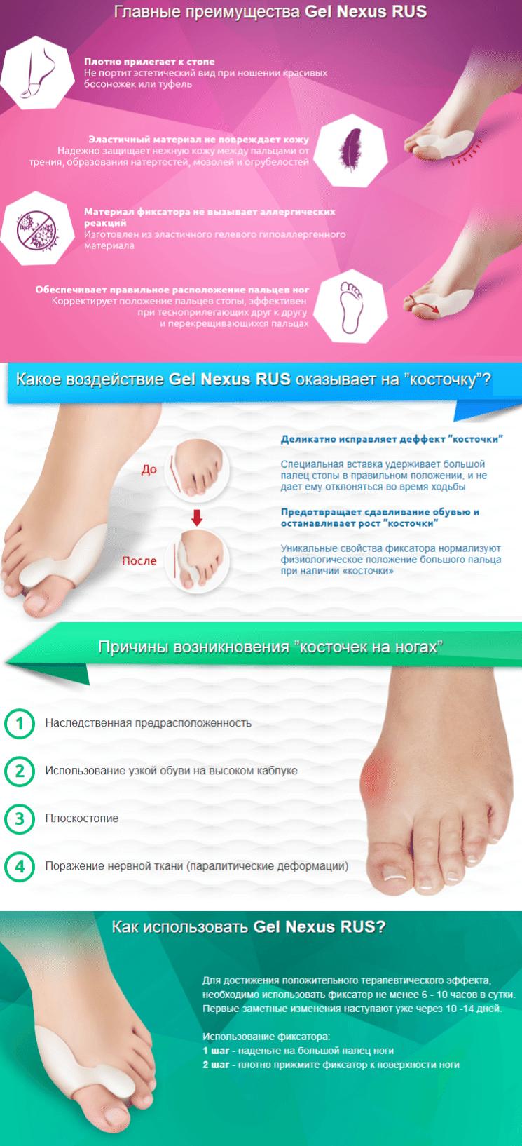 Gel Nexus средство от косточки на ноге купить