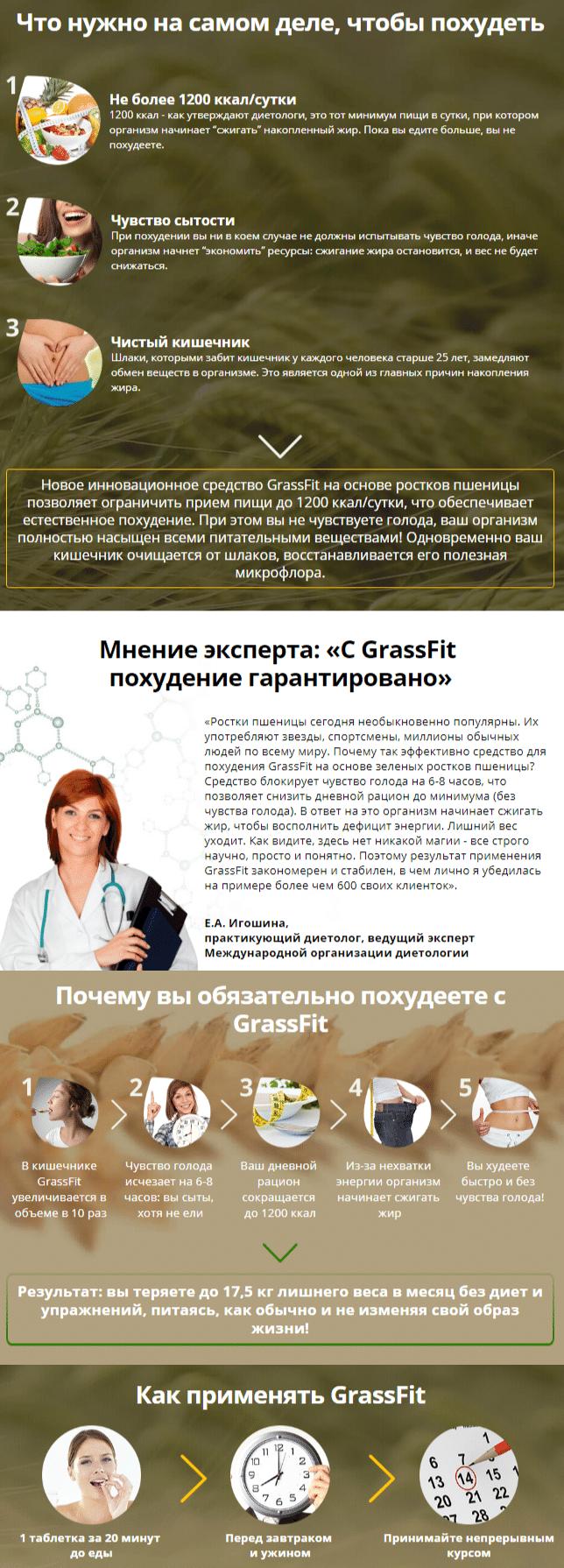 Grassfit средство для похудения купить
